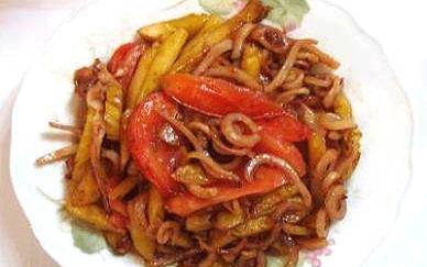 Món mực khô xào chua ngọt