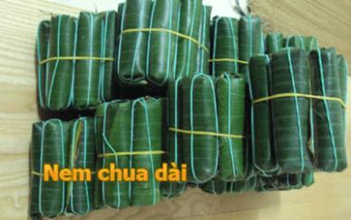 Nem dài Thanh Hóa ( nem chua con)