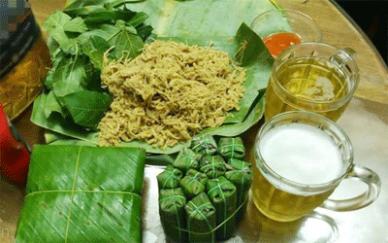 Uống bia cùng nem chua Thanh Hóa